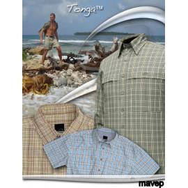 Košile dl. rukáv Tonga - hnědá