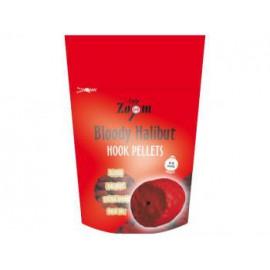 Strawberry Halibut Hook Pellets - s otvorem - 150 g